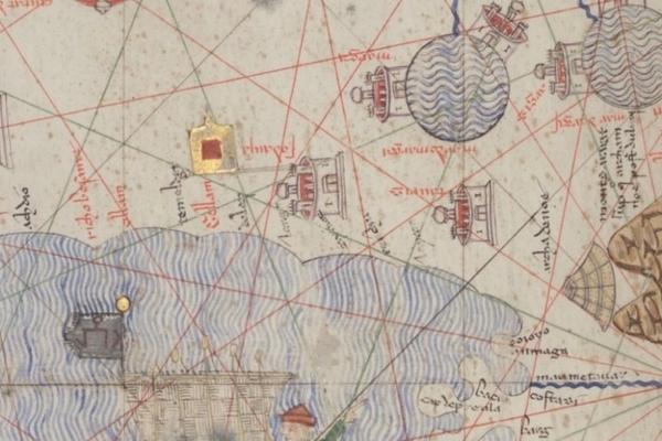 detail from bibliotheque nationale de france ms espagnol 30 abraham cresques atlas de cartes marines c