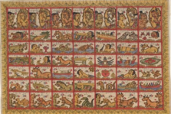 Balinese calendar on cloth