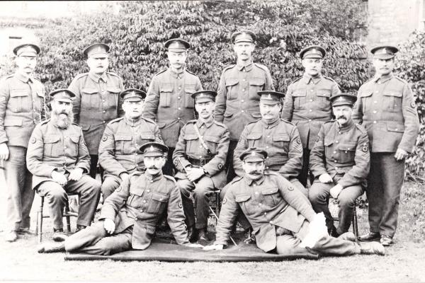 saxty good 2 male nurses at littlemore given uniform and rank wwi saxty good in centre john stewart